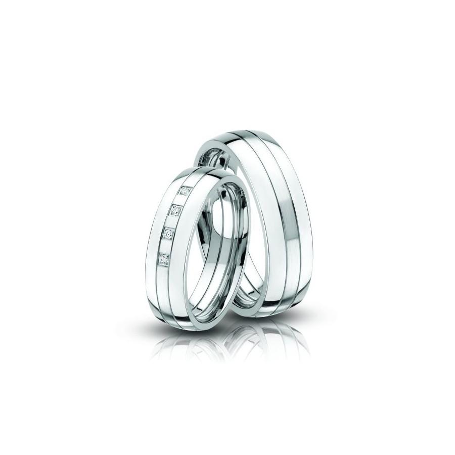 Fehér Acél karikagyűrű Ac-07