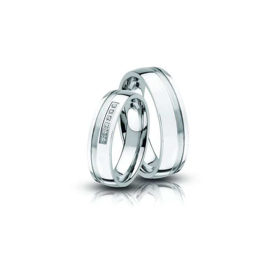 Acél karikagyűrű pár Ac-09