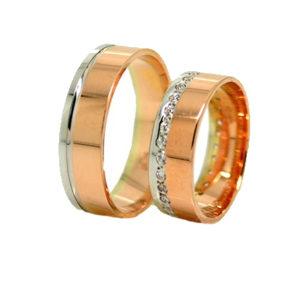 Sárga és fehér arany gyűrű K4