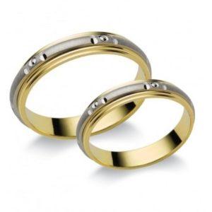 extra kinézet, vékony arany és ezüst karikagyűrű (Z10)