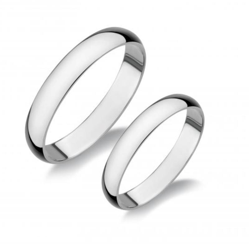 Ezüst gyűrű S3 - karikagyűrű pár