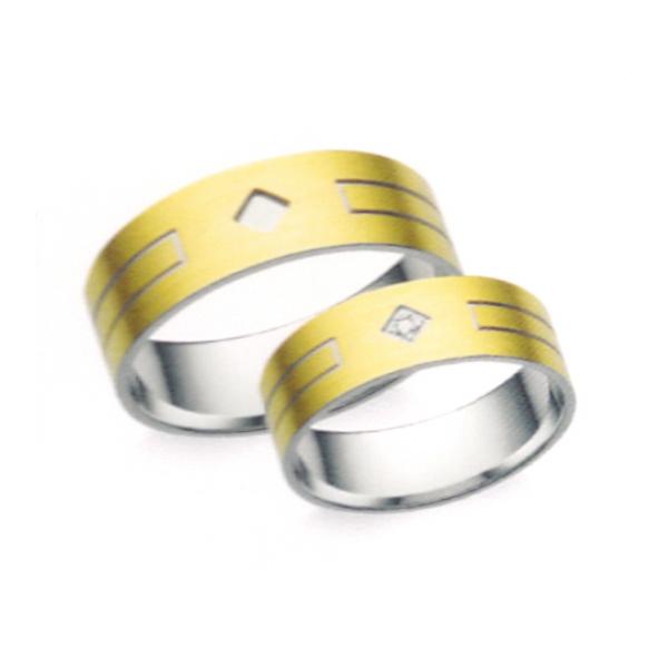 Arany karikagyűrű pár Z5
