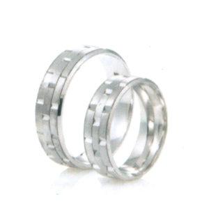 mintázott ezüst gyűrű
