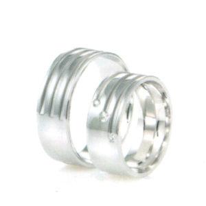 Barázdált ezüst karikagyűrű