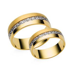 Arany karikagyűrű - karikagyűrű pár - fényes és matt